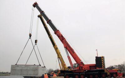 Dik tweehonderd ton beton